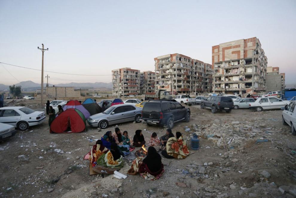 خانه های تخریب شده در نتیجه زلزله در ایران(خبرگزاری فرانسه)