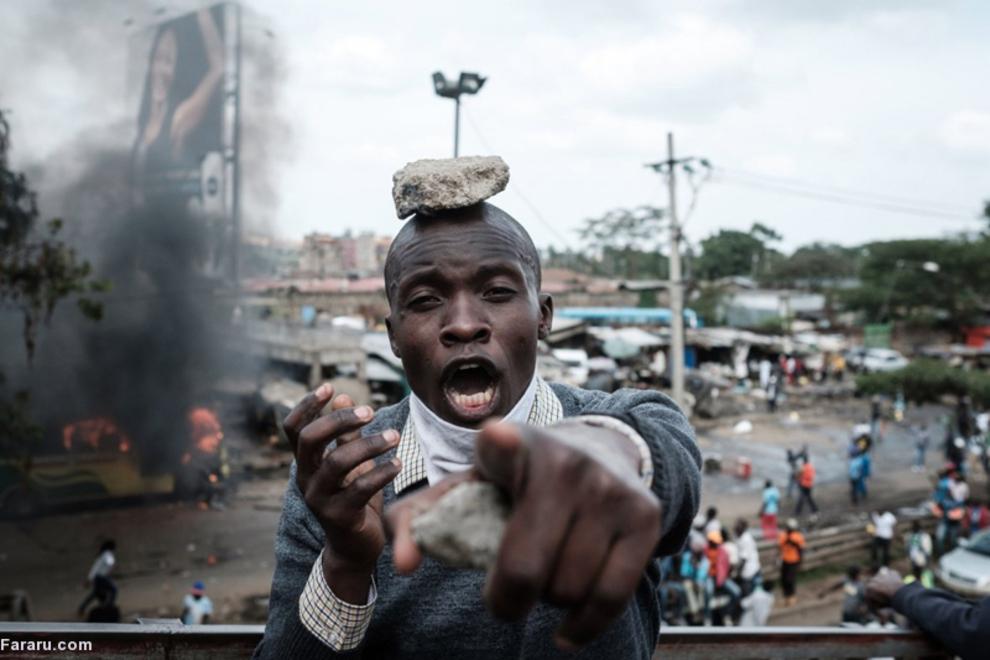 (تصاویر) آشوب انتخاباتی در کنیا