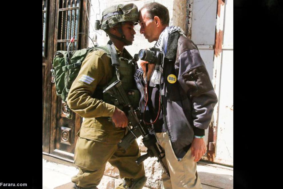 درگیری با سرباز اسرائیلی در کرانه باختری