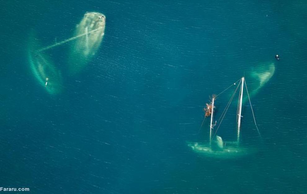 کشتی های غرقشده در طوفان ایرما