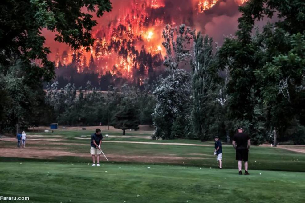 آتش سوزی در واشنگتن
