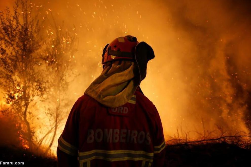 آتشسوزی جنگل در پرتغال