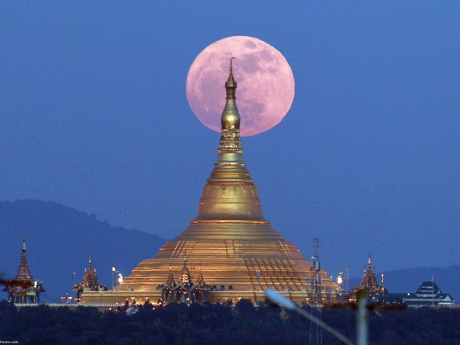 ابر ماه در میانمار