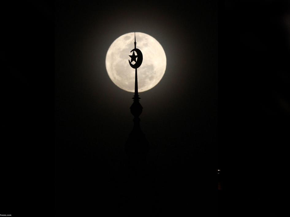 ابر ماه در جاکارتای اندونزی
