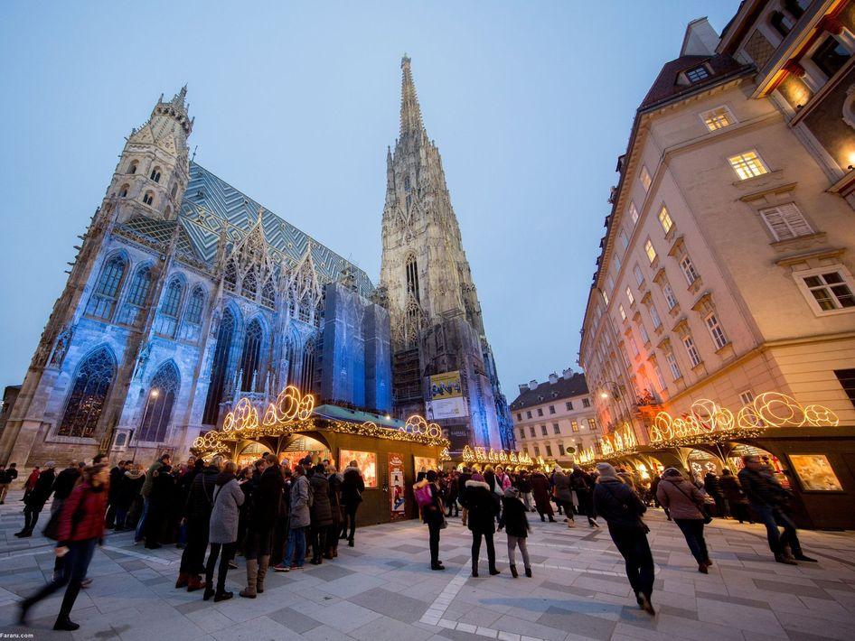 کریسمس در مجاورت کلیسای سنت استفان وین