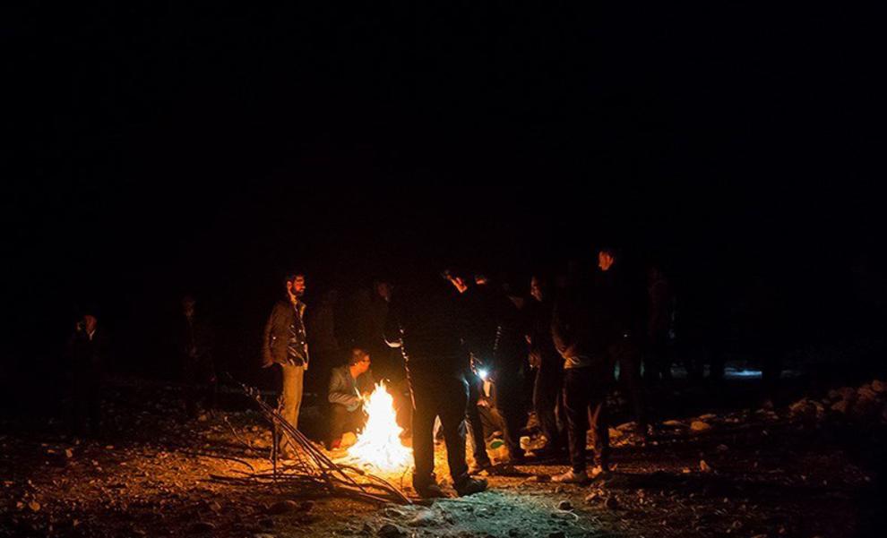 (تصاویر) نجات جوان ۲۴ ساله در کوههای لامرد ,