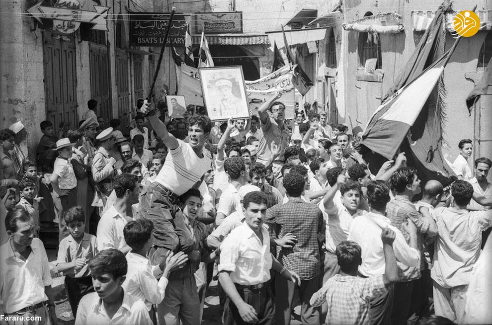 اعتراض مردمی مقابل مجلس مصر در سال هزار و نهصد و پنجاه و شش