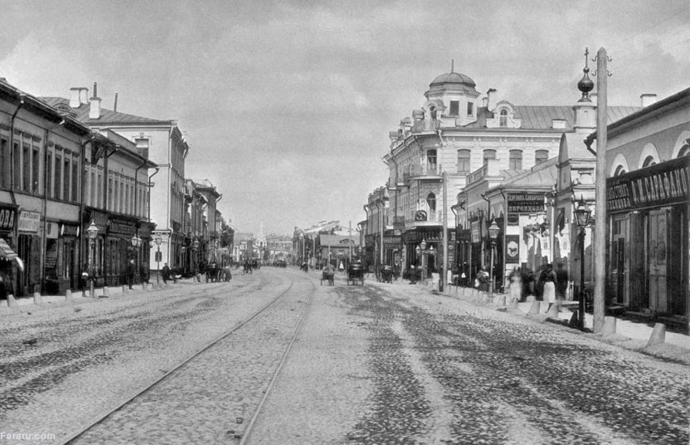 خیابان آربات در مسکو 1888