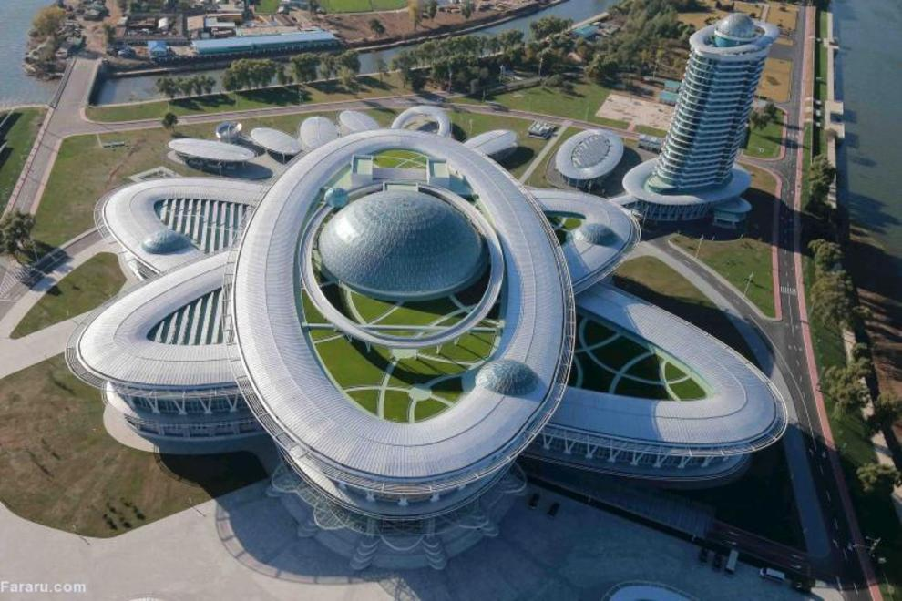 (تصاویر) ساختمانهای مدرن در کره شمالی منزوی