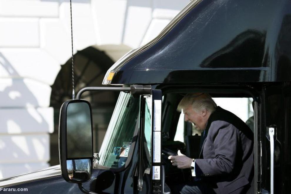 حاشیه جلسه با کامیون داران و مدیران اجرایی