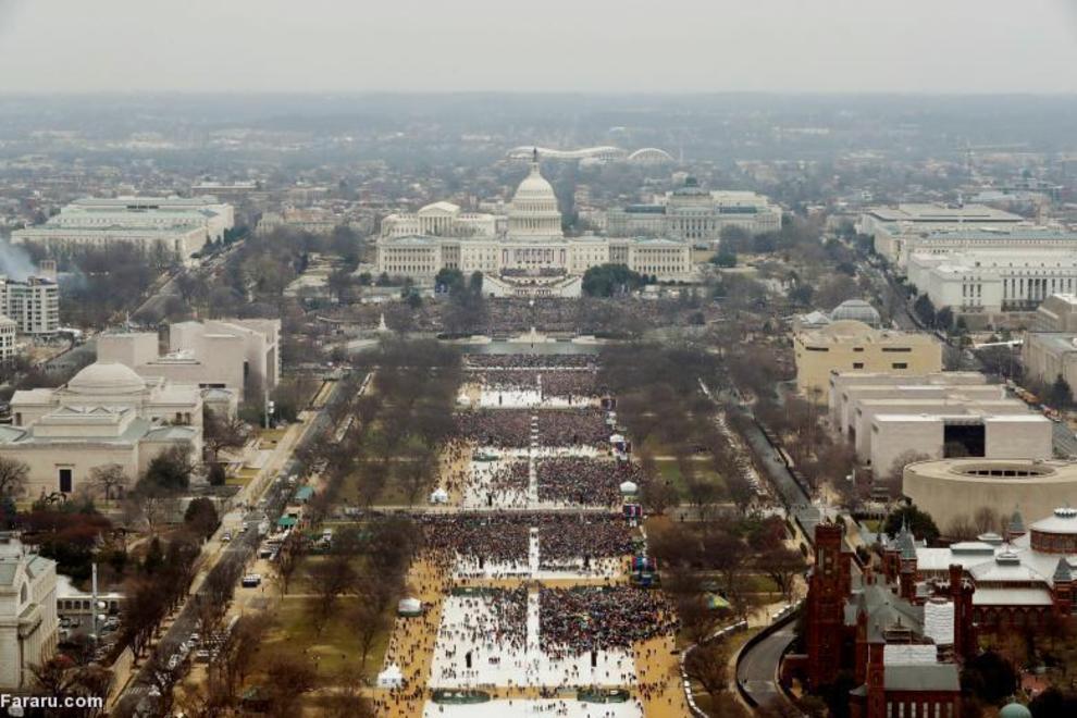جمعیت شرکت کننده در مراسم ریاست جمهوری ترامپ در ۲۰ ژانویه ۲۰۱۷