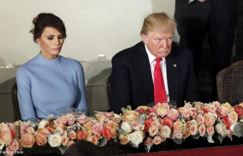 دونالد ترامپ و همسرش ملانیا ترامپ در مراسم تحلیف ریاست جمهوری