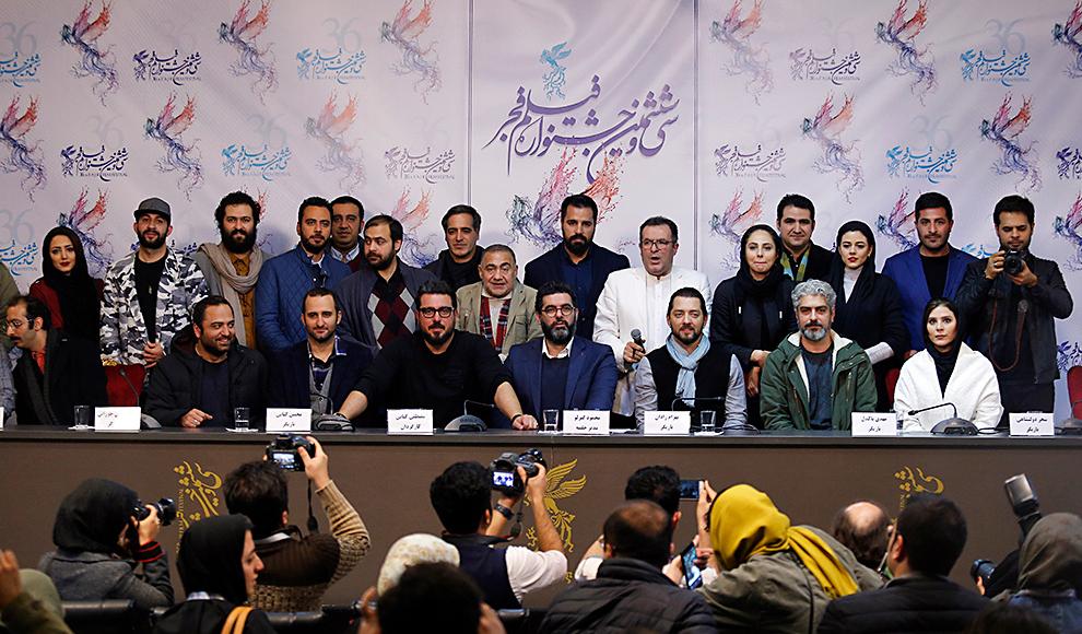 سومین روز جشنواره فیلم فجر با حضور عوامل فیلم بانو قدس ایران. (عکاس: نجاتی/نیک نام/برنا)