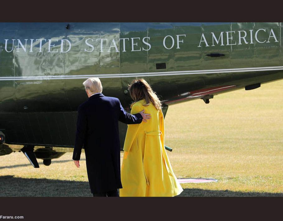 عکسهای جدید ملانیا ترامپ و همسرش پس از شایعه جدایی