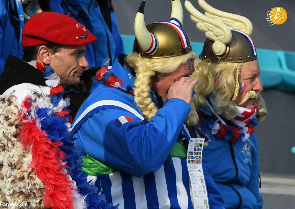 هواداران فرانسوی در بازی های المپیک زمستانی.