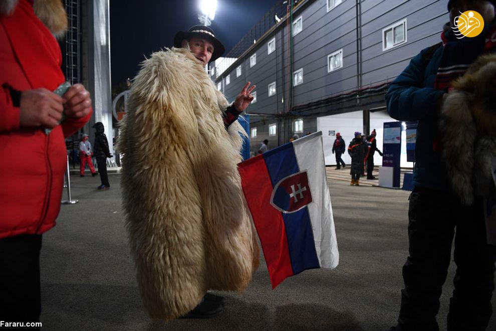 هوادار اسلوواکی در بازی های المپیک زمستانی
