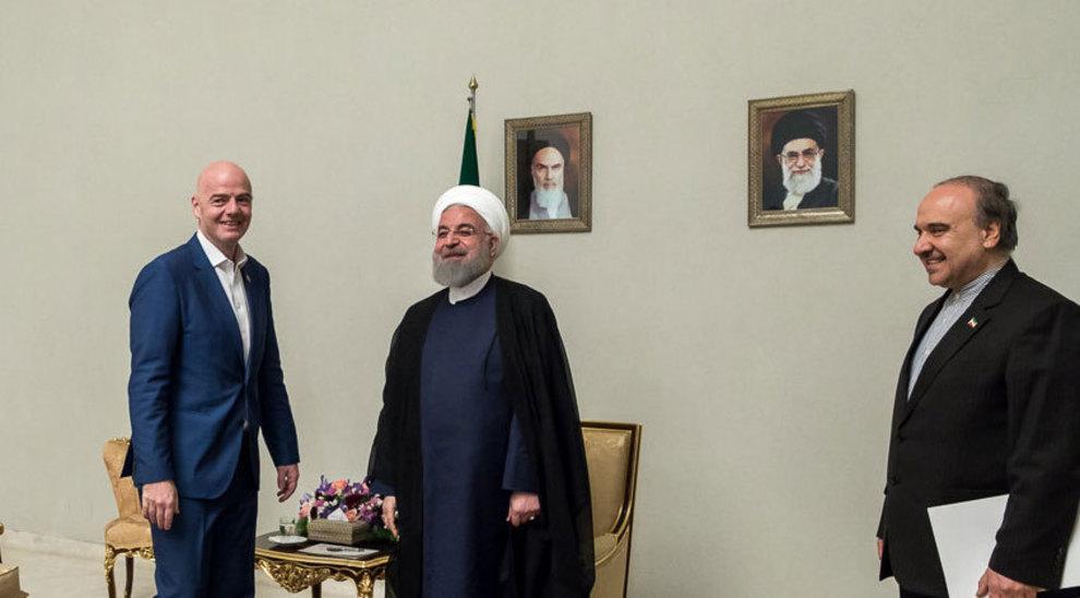 Image result for روحانی + اینفانتینو + سلطانی فر