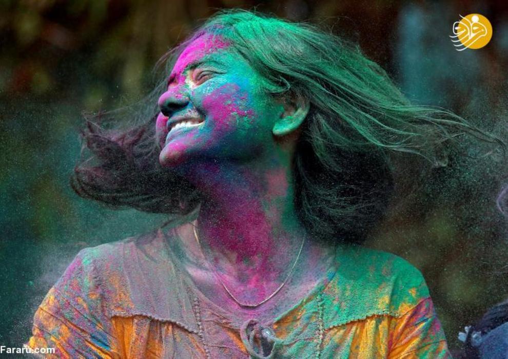 هولی،جشن رنگ پاشی هندوها (تصاویر)