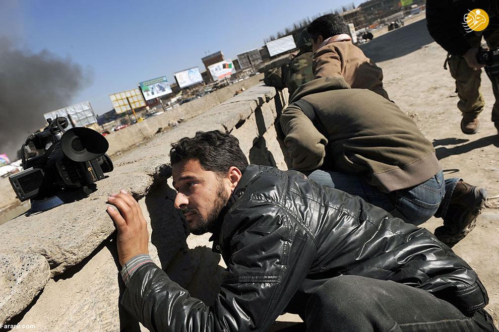 9 روزنامه نگار افغان به دنبال پوشش لحظهای درگیری نیروهای طالبان و نیروهای امنیتی افغانستان<br />