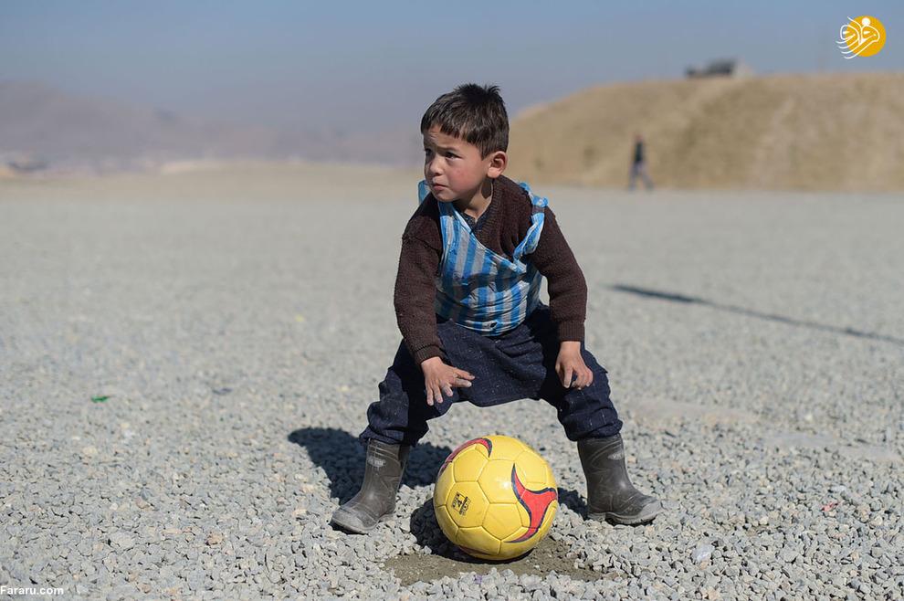 مرتضی احمدی، پسربچه 5 ساله افغان که طرفدار لیونل مسی است