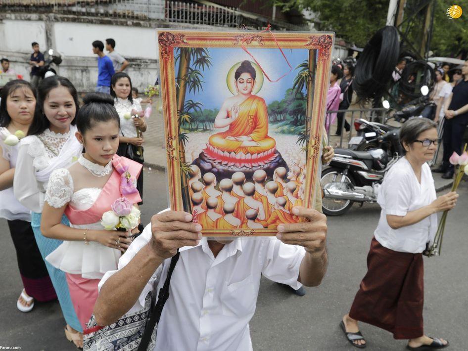 تصاویری از مراسم با شکوه زادروز بودا