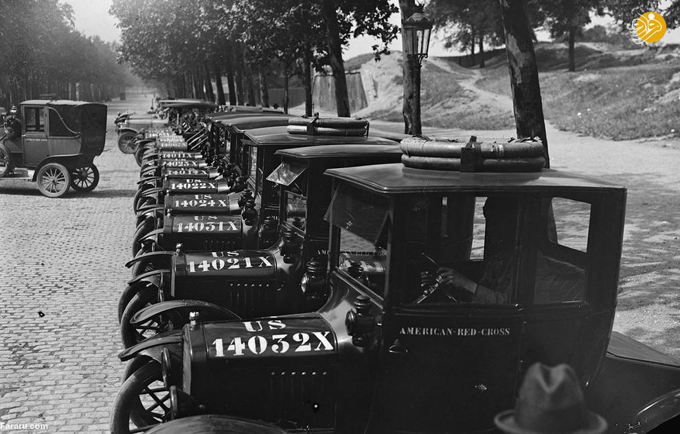 خودروهای صلیب سرخ آمریکا در فرانسه