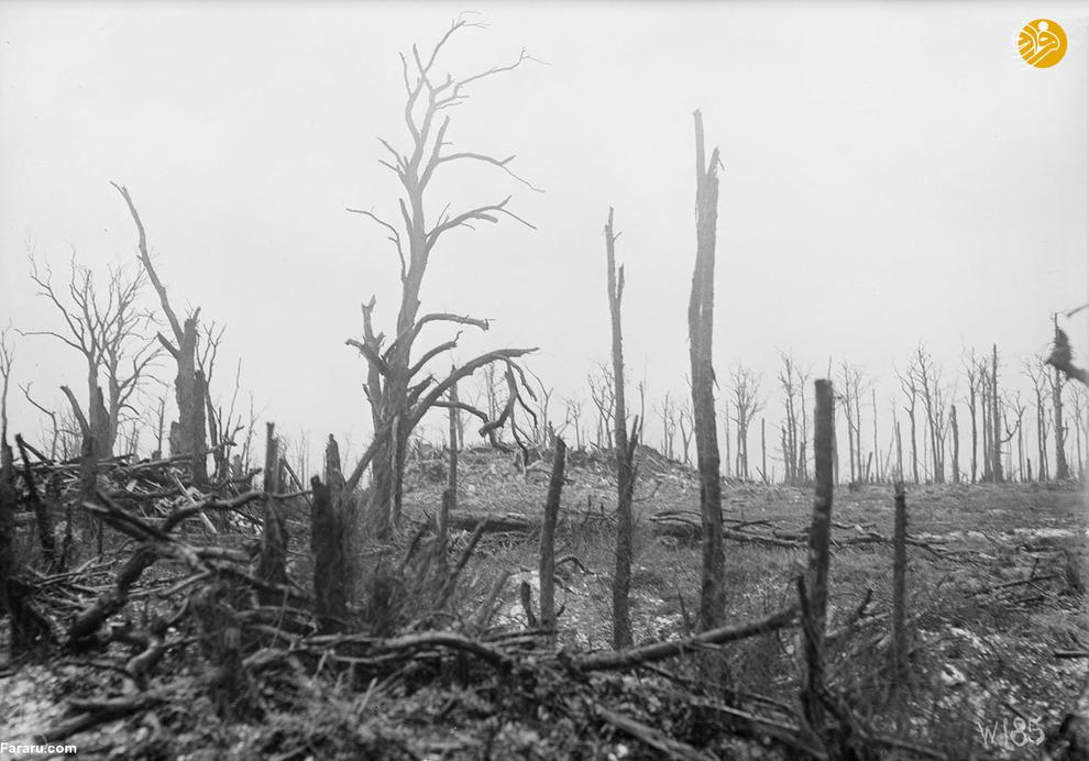 روستای تخریب شده در اثر جنگ