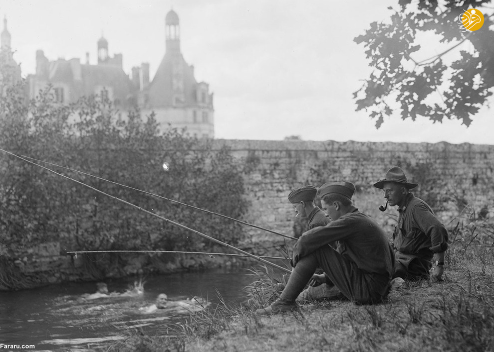 سربازان آمریکایی در حومه پاریس