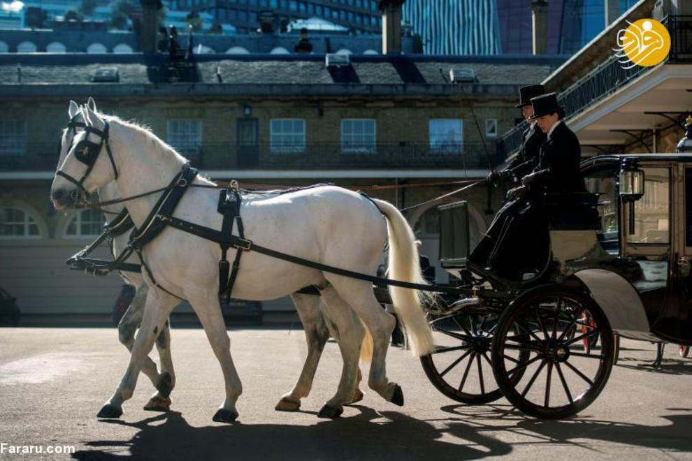 درشکه حمل شاهزاده هری و مگان مارکل
