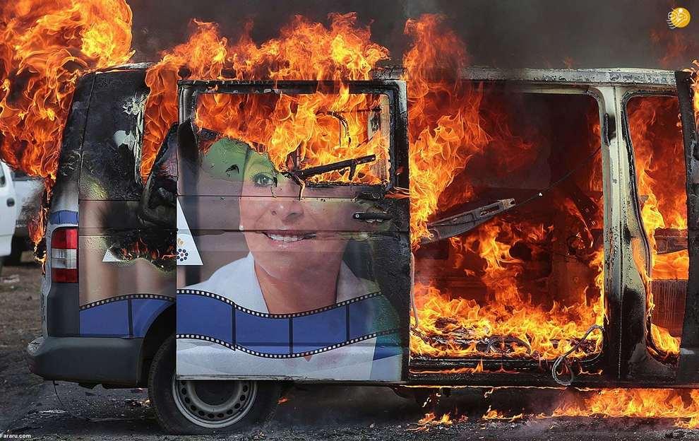 اعتراض دانش آموزان به اورتگا رییس جمهورنیکاراگوئه. (گتی ایماژ)