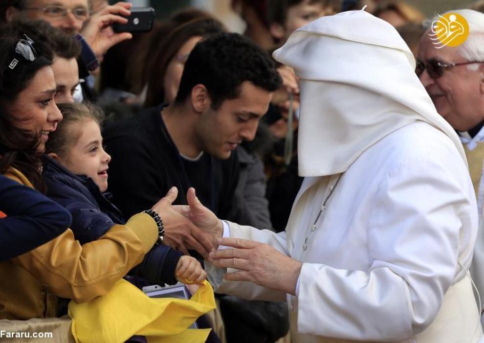 ملاقات پاپ با مردم در آوریل ۲۰۱۴ در رم