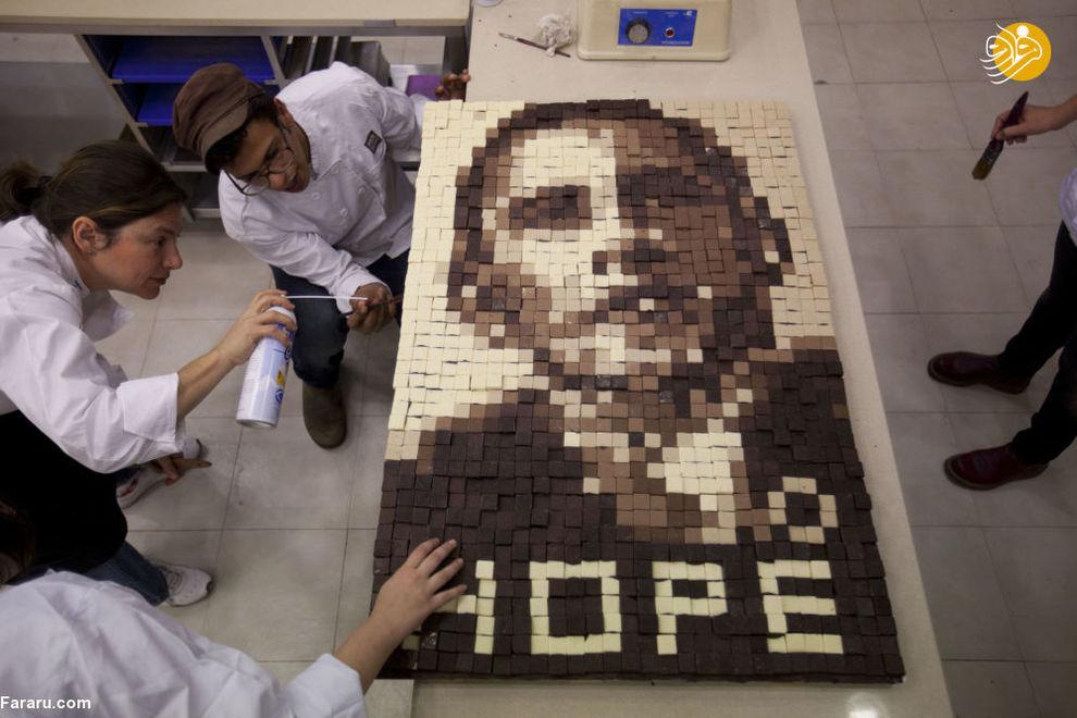 مجسمه شکلاتی باراک اوباما