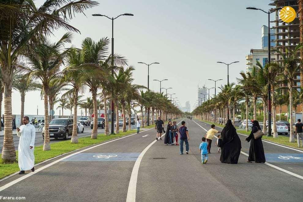 خانوادهها در منطقه ساحلی جده