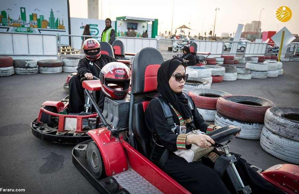 رانندگی زن سعودی در پارک متروکه در نزدیکی جده