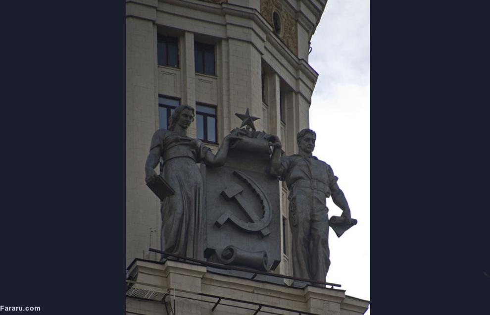 مجسمههای آسمانخراش در ساحل کاتلنیچسکی در مسکو