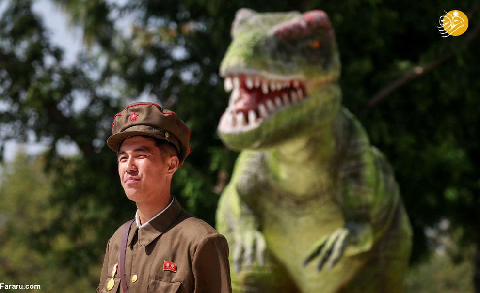 سربازی در موزه تاریخ طبیعت پیونگیانگ