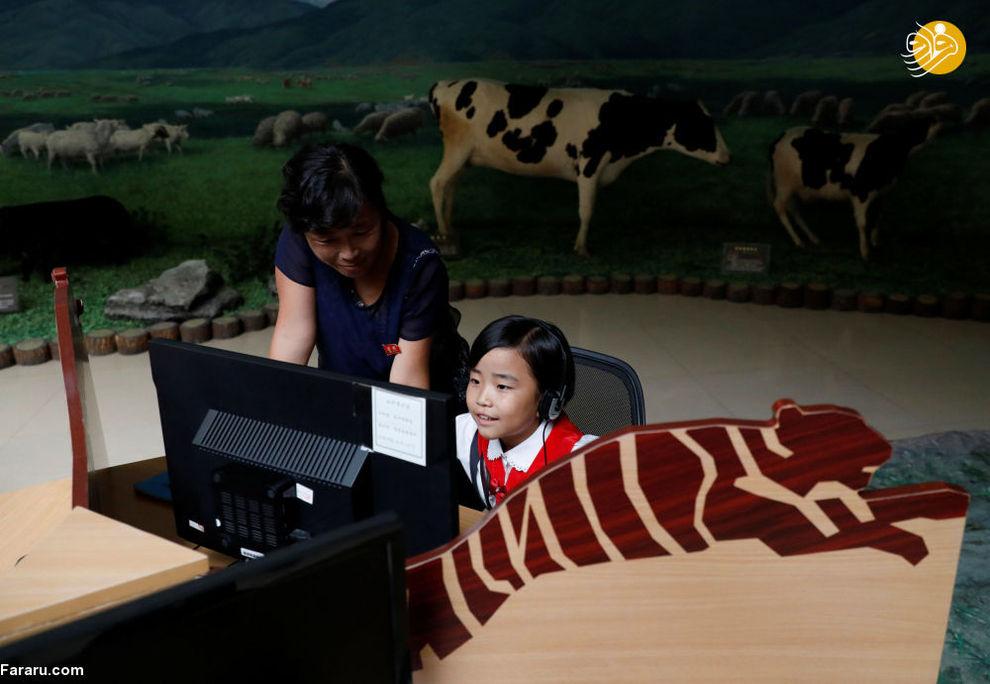 مراجعان در موزه تاریخ طبیعت در پیونگیانگ