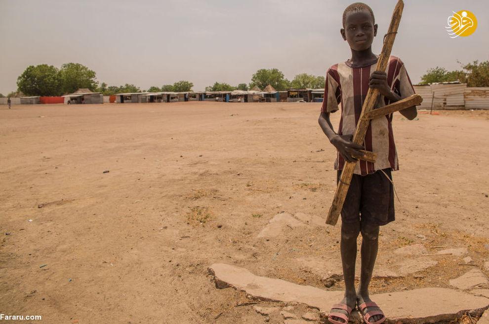 پسر خردسال در یکی از روستاهای سودان