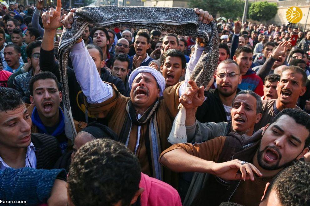 معترضین در مرکز قاهره، مصر