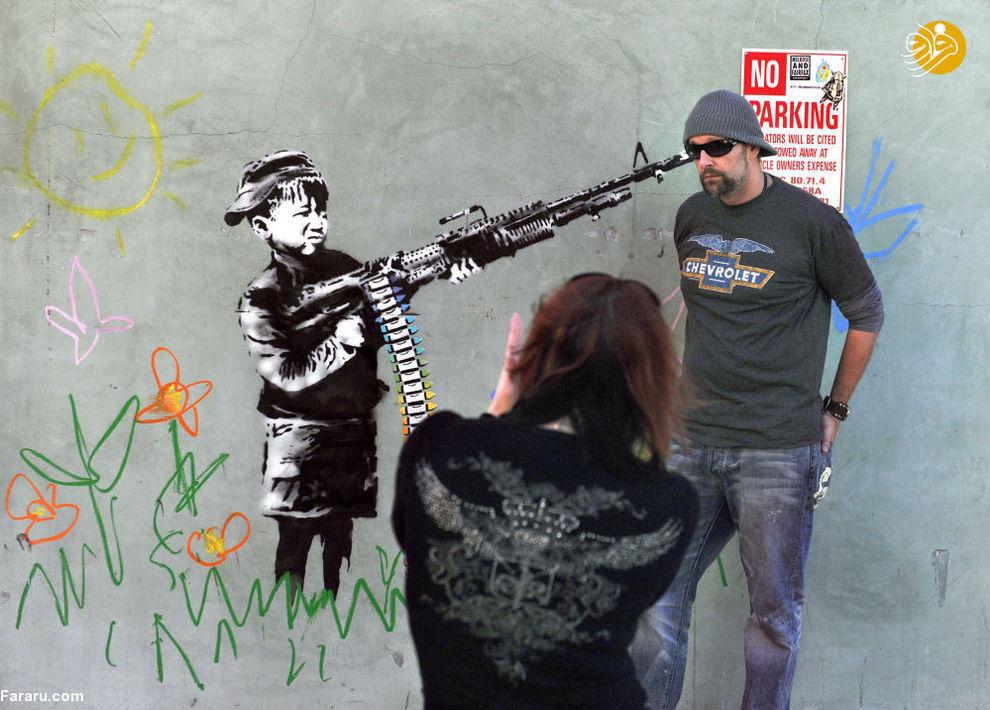 گرافیتی بنکسی در کالیفرنیا