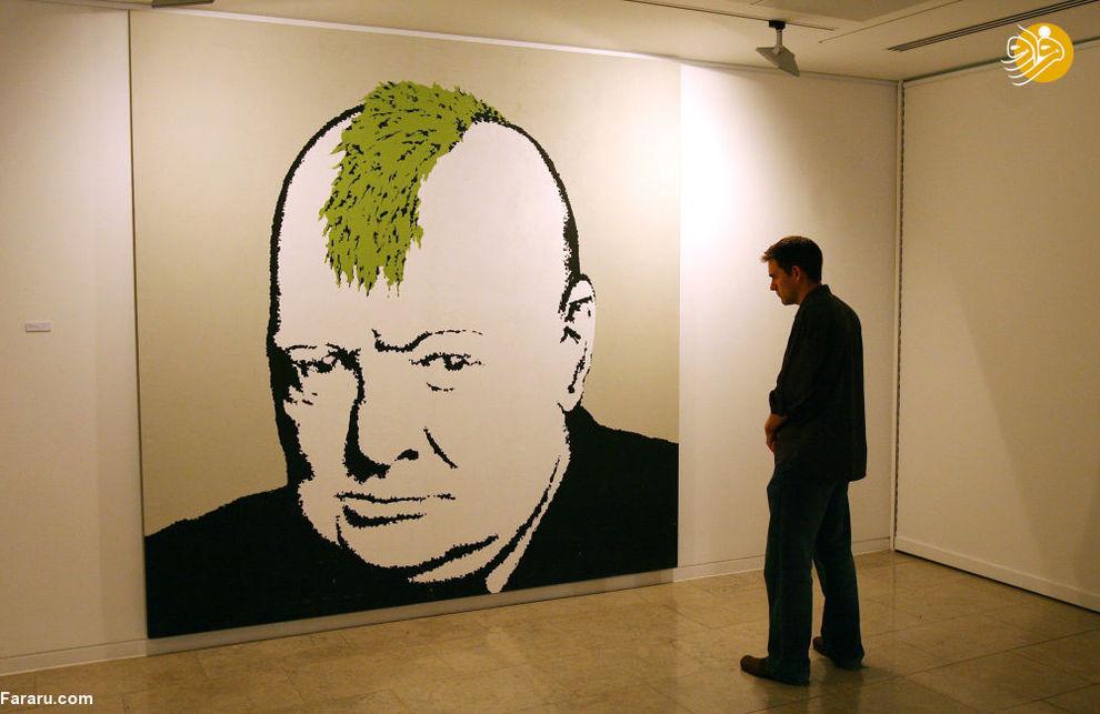 پرتره چرچیل در لندن اثر نقاش بنکسی