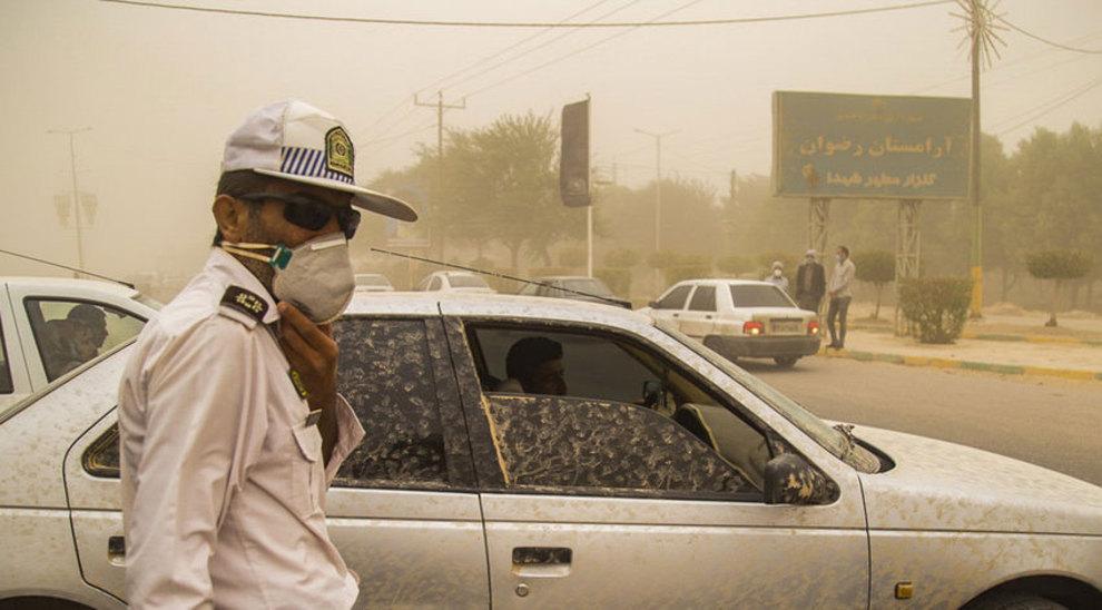 (تصاویر) هجوم وحشتناک گردو غبار به ماهشهر