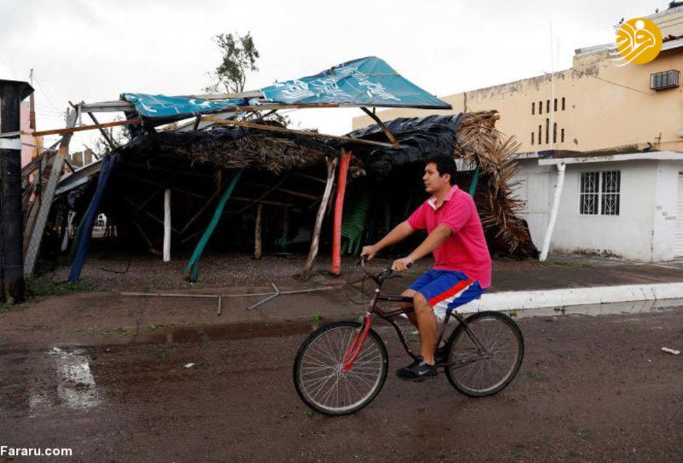 (تصاویر) خسارت طوفان در مکزیک