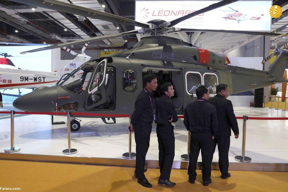هلیکوپتر مدل (AW139M) توسط یک ایتالیایی در این نمایشگاه به نمایش درآمده است.