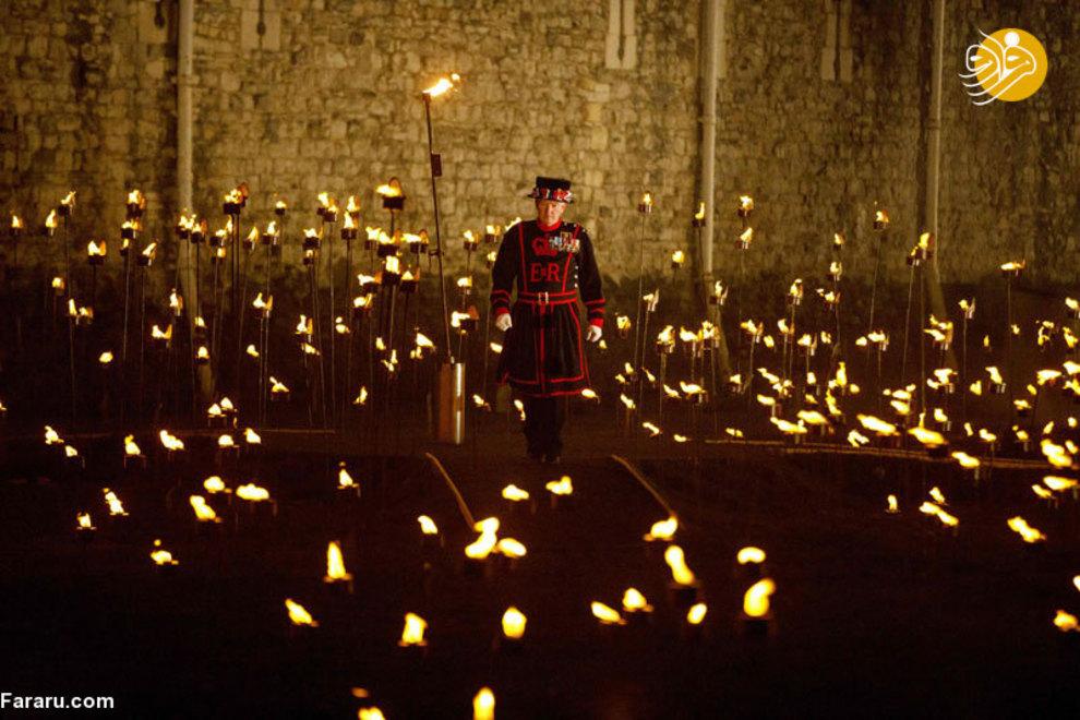 مراسم نور پردازی و روشن کردن شمع در مرکز شهر لندن(4 نوامبر)