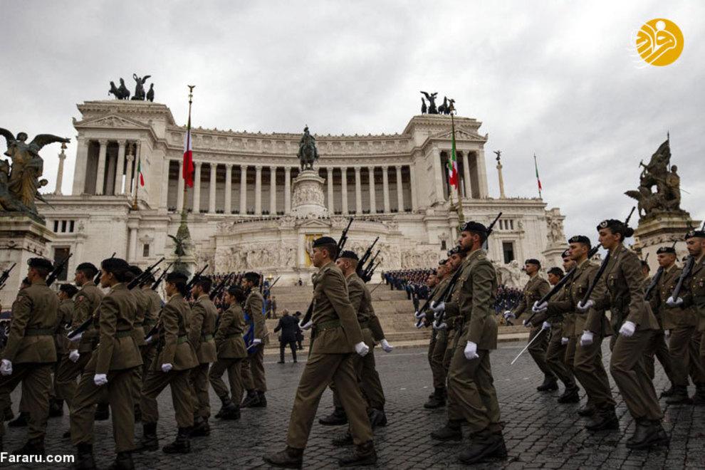رژه سربازان ایتالیایی در تاریخ 4 نوامبر به مناسبت روز وحدت ملی