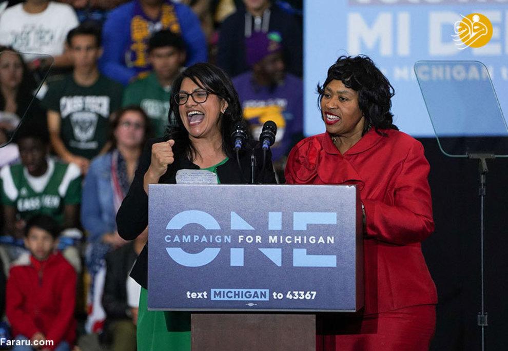 رشیده طلیب در انتخابات کنگره ایالت میشیگان به پیروزی رسید و به همراه الهان عمر نخستین زنانی خواهند بود که در مجلس نمایندگان آمریکا فعالیت خواهد کرد. او در سال ۱۹۹۴ از دبیرستان فارغالتحصیل شد و در دانشگاه ایالتی وین تحصیل کرد و در سال ۱۹۹۸ مدرک کارشناسی خود را در علوم سیاسی دریافت کرد. او در سال ۲۰۰۴، مدرک حقوق خود را از دانشکده حقوق توماس کولی در سال ۲۰۰۴ دریافت کرد. او معتقد است که باید با سیاستهای تبعیض آمیز دونالد ترامپ مقابله کنیم و او مثل کسی است که نیاز به راهنمایی دارد. خانواده او در کرانه باختری و در روستایی به نام بیت عور زندگی میکنند