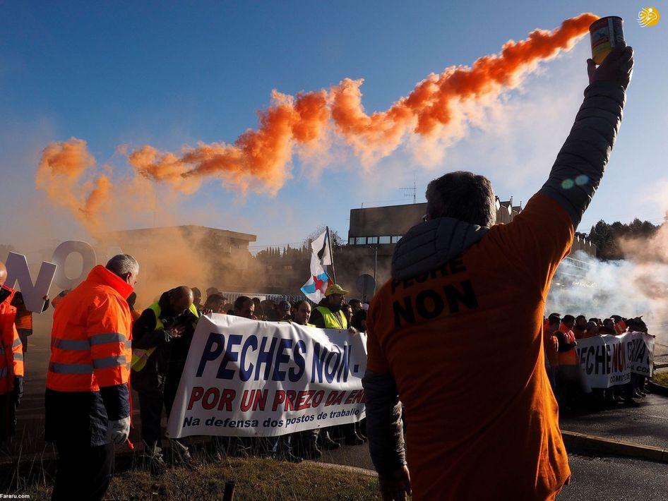 اعتراض کارگران هندی به دولت در دهلینو