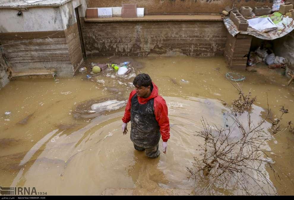 حال و روز محله سعدی پس از سیل شیراز (تصاویر)