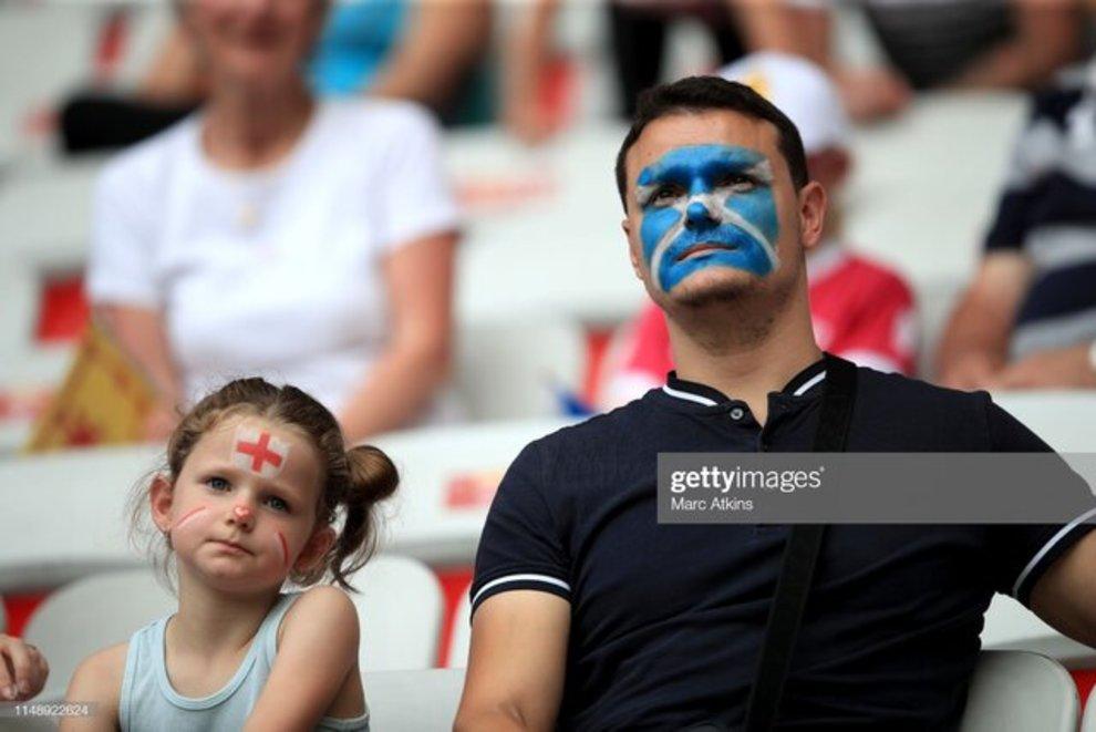 هواداران دیدار انگلیس و اسکاتلند